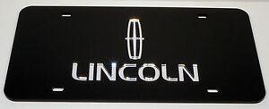Lincoln Chrome Mirror License Plate Auto Tag Town Car