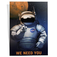 """""""We Need You"""" NASA Space Travel Art Poster Print - A4 to A0 Framed"""
