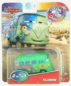 NEW! Pixar Cars Color Changers ( 2-in-1 ) FILLMORE VW Hippie Van Car Disney