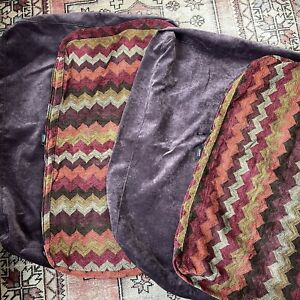 Lovesac Sactional Covers Purple Textured Colorful Zig Zag High Quality RARE