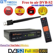 GTMEDIA V7S DVB-S2 Receptor de satélite FTA Full HD 1080P decodificador+USB WIFI