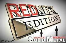 METAL Redneck Edition Logo HIGHEST QUALITY ON EBAY Chevrolet Bumper Trunk Decal