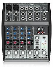 Behringer Xenyx 802 Mixer Analog 8-Kanal Mischpult XENYX 2 MicPreamp Studio Live