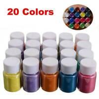 4Pcs  30 Color Epoxy Resin Metallic Mica Pigment Powder Nail Dye Set Hot.