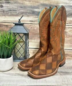 Men's Horse Power Patchwork Western Boots Square-Toe Hp1053 Rodeo 10.5 D