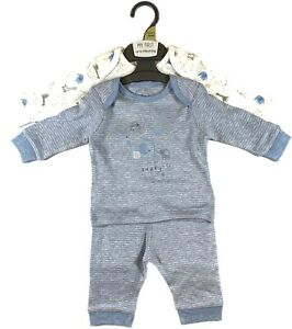Mothercare Boys Pack Of 2 Pyjamas Pajamas Pjs Baby Toddler 1 Month up-to 2 Years