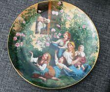 Lilien Porzellan  Sammelteller -Mit Seifenblasen spielende Kinder- Zertifikat