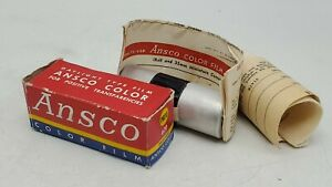 "Sealed/Expired 1949 Ansco 620 PB20 Color Daylight Type Film 8ex. 2 1/4"" x 3 1/4"""