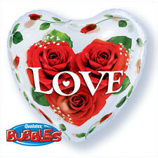Party Supplies Valentines Day Love 56cm Single Heart Bubble Love Roses Balloon