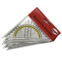5er-Set Geodreieck 16cm - Geometria Triangolare Riga Scuola Triangolo di Segno