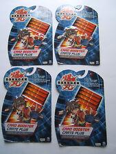 NEW Set of 4 Bakugan Battle Brawlers Card Booster Packs Lot Ability/Metal Gate