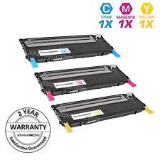 3pk Comp Toner Cartridges for Samsung CLP320 CLT-K407S CLP-321 CLP-325 CLP-326