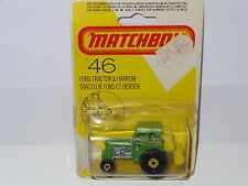 Matchbox FORD TRACTOR AND HARROW - 46 sealed blister pack