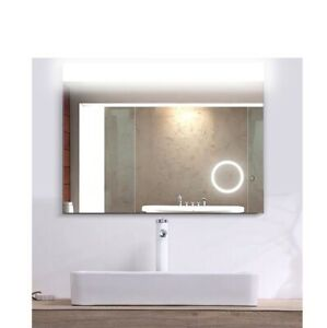 Mugo Bath Bathroom LED Lighted Mirror, touch-switch, Magnifying, Back-lit,32*24""