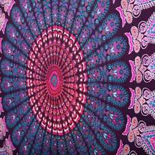 pink Hippie Indian Twin Tie Dye tapestry wall hanging home decor Blue mandela