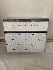 Tommy Hilfiger Blue Stripe Whale Queen Sheet Set 4pc Nautical/ Ocean
