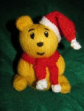 KNITTING PATTERN - Christmas teddy bear chocolate orange cover or 15 cms toy