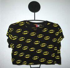 f26af036049 Womens H&M Batman Black Cropped T Shirt Top Short Sleeve DC Comics Size '  ...