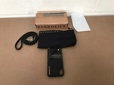 BANDOLIER IPHONE X LEATHER DESIGNER MOBILE PHONE CASE BLACK BRAND NEW WITH TAGS