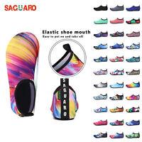 SAGUARO Mens Womens Water Skin Shoes Aqua Sport Socks Yoga Pool Beach Swim Surf