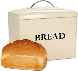 Bread Bin Vintage Storage Tin Large Retro Metal Container With Lid Andrew James