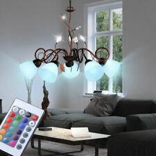 RGB LED Decken Beleuchtung Ess Zimmer Pendel Blätter Ranken Big Light