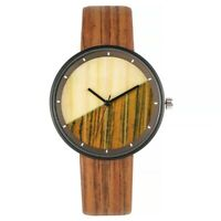 Creative Splicing Design Men Women Analog Quartz Wrist Watch PU Leather Band