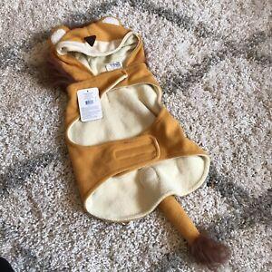 Top Paw Lion Costume Jacket Vest Dog Medium Yellow