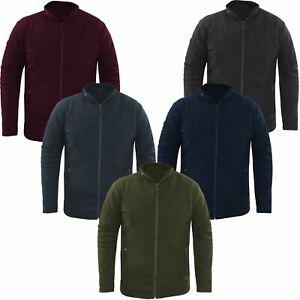 Ex-F&F Mens Fleece Jacket Full Zip Up Polar Work Outdoor Warm Coat Top Pocket