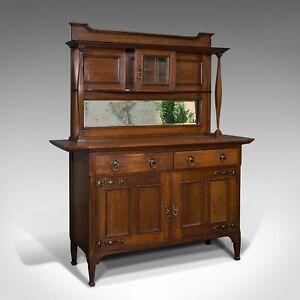 Large Antique Sideboard, English, Oak, Dresser, Cabinet, Liberty & Co, Victorian