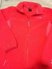 The North Face Denali Fleece Jacket Hoodie Orange And Pink  Tag Girls Size XL 18