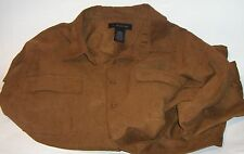 J. ferrar Mens Brown Long Sleeve Shirt - Size  L  100% polyester