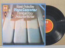 2548 109 RAVEL/PROKOFIEV Piano Concertos Monique HAAS / Sviatoslav RICHTER LP NM