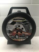 Matchbox Tire Die Cast Car Carrying Case Wheel W/ Fire Truck Tara Toy 17 Vehicle