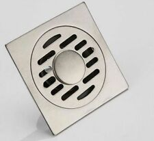 Stainless Steel 304 Brushed Square Bath Floor Drain Shower Waste Water Drainer