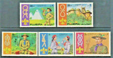 SCOUTS - Boys - Girls 1971 Mint NH Pictorial Topical Set Fujeira M #700 -704