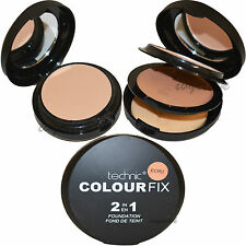 TECHNIC COLOR Fix 2 en 1 crudo polvo presionado & Cream Oferta De Maquillaje De Base