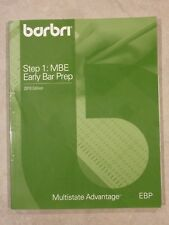 Barbri Exam Review Step 1: MBE Early Bar Prep Workbook 2010 Multistate Advantage