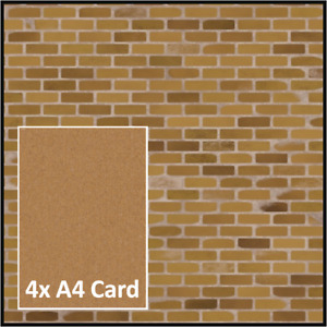 LONDON STOCK BRICK MODELLING PAPER 00 SCALE oo 1:76 🚂4xA4 SIZE CARD 170gsm⭐