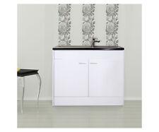 respekta Meuble-lavabo Meuble-lavabo Évier complet Evier Inox 100 x 60 cm