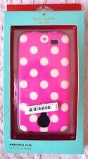 Kate Spade para Samsung Galaxy (£ 35RRP) Lunares Blancos/Rosa Estuche Rígido-Bnwt