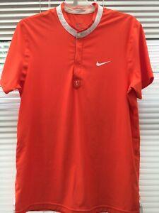 Nike Roger Federer All Court Sony Men's Tennis Henley Shirt/Polo (Rare)
