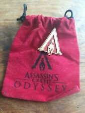 Assassins Creed Odyssey Pin Exclusive & Soft Pouch *RARE*