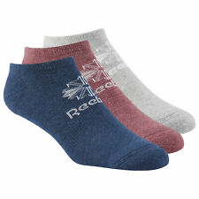 Reebok Classic Mens Womens No Show Trainer Ankle Invisible Socks - 3 Pairs