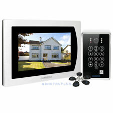 HOMSECUR 7'' Video Door Intercom with Password 5 Keyfob & Recording & IR Camera