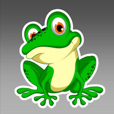 car bumper sticker bug eyed green frog cartoon vinyl  88 x 96.5 mm vinyl decal