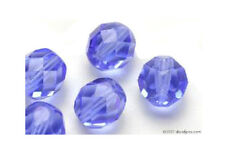 25 Sapphire Faceted Czech Glass Round Beads 8MM