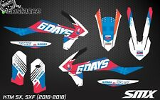 KTM SXF SX 2016 2017 Motocross Graphics Kit decals MX Slovaquie Autocollants 6 jours