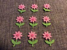 9 X Felt Flowers