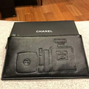 CHANEL Novelty black with clutch Pouch Box Limited Japan NEW F/S